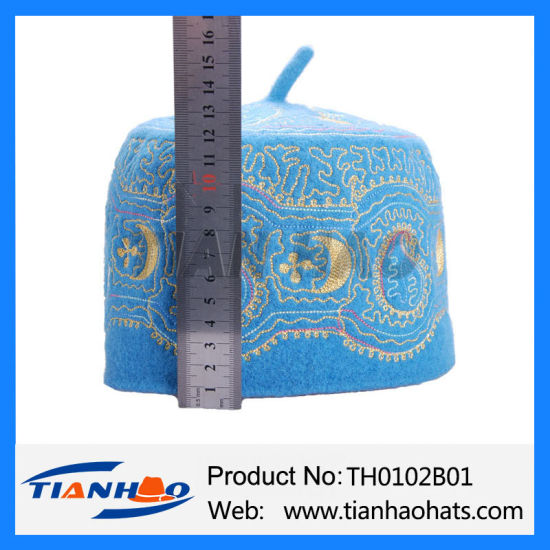 Competitive Price Wholesale Nigeria Prayper Muslim Embroidery Cap pictures & photos