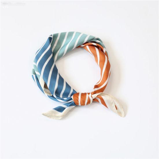 Fashion Small Silk Scarf Lady Head Silk Bow 100% Silk