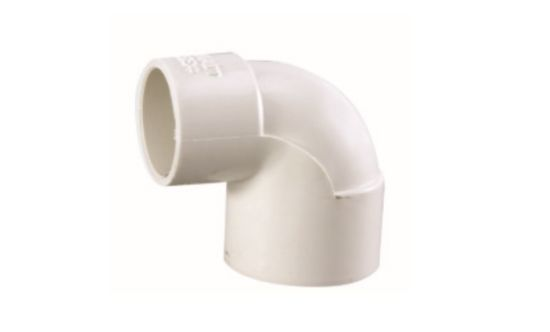 PVC Reducing Elbow DIN Standard PN10 Water Supply Pressure Pipe Fittings in White Color (H08)