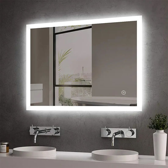 GS CE RoHS LED Bathroom Vanity Mirror with LED Lights/Touch Switch/Demister Pad