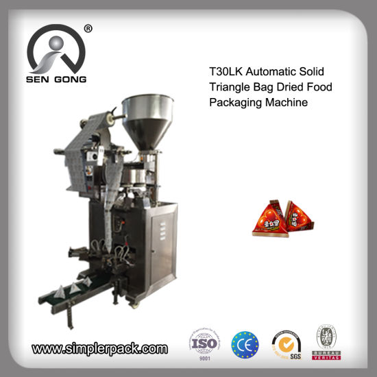 Wholesale T30lk Automatic Solid Triangle Bag Granule Filling Packing Machine