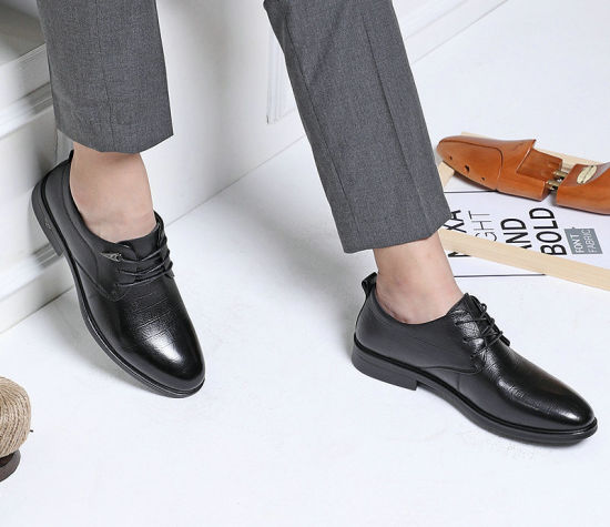 China Leather Black Shoes for Men