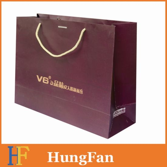 Best Price of Glossy / Matt Lamination Reusable Paper Shopping Bag with Cheap Price pictures & photos