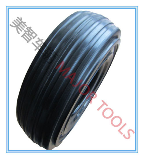 4.00-8 High Loading Solid Rubber Wheel for Airport Flatbed Trailer pictures & photos