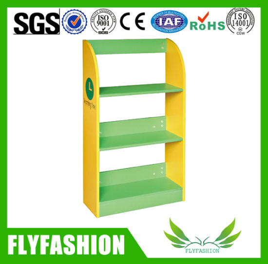 Hot Sale Colorful Wooden Bookshelf Kids Furniture Sf 106c