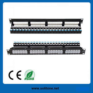 UTP CAT6 24port Patch Panel pictures & photos