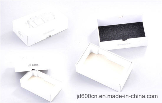 China White Cardboard Paper Mobile Phone Box / Cellphone Packing Box