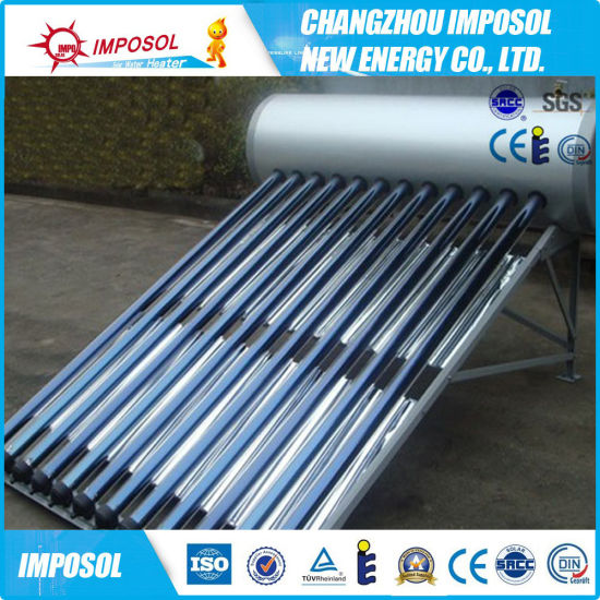 High Pressure Vacuum Tube Solar Water Heater with ISO, CE, SGS Approved (JINGANG)