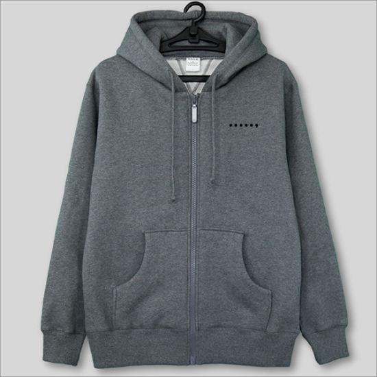56449a8ce5 320GSM Polar Fleece Kangaroo Pocket Printed Zip up Hoodies pictures & photos