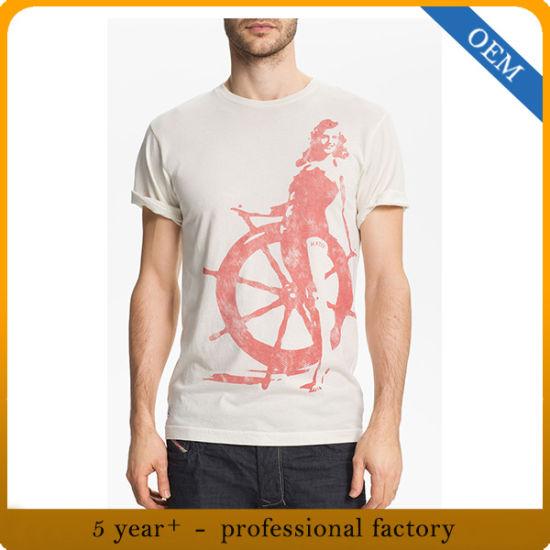 Wholesale 100% Cotton Men's Printed T-Shirt