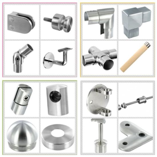 Adjustable Saddle / Detachable Handrail Bracket / Stainless Steel Balustrade Support pictures & photos