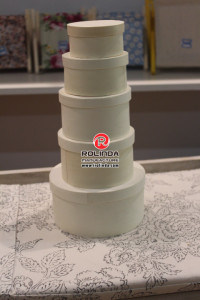 China Best Sale Good Service Carving Logo Round Wood Cheese Box