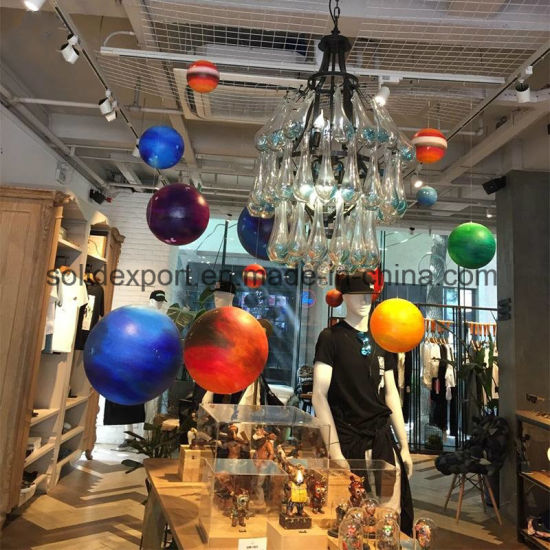 China Window Decorations Props Space Planet Shopping Mall