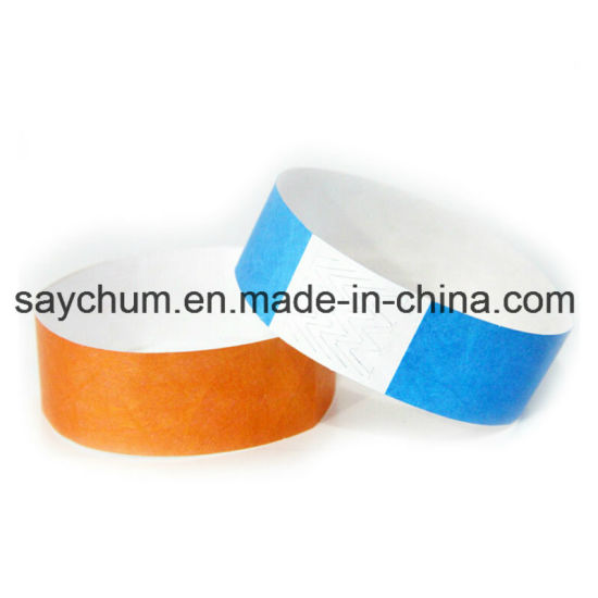 photo about Printable Wristbands for Events called China Disposable Tyvek Band, Occasion Bracelet, Paper