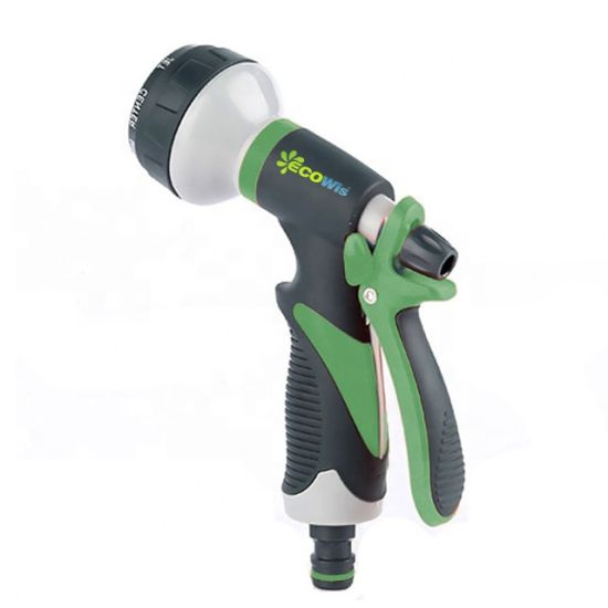 China Garden Hose Nozzle Spray Nozzle 8 Watering Patterns Metal Heave Duty Water Nozzle High Pressure Nozzle Sprayer China Garden Sprayer And Garden Water Guns Price