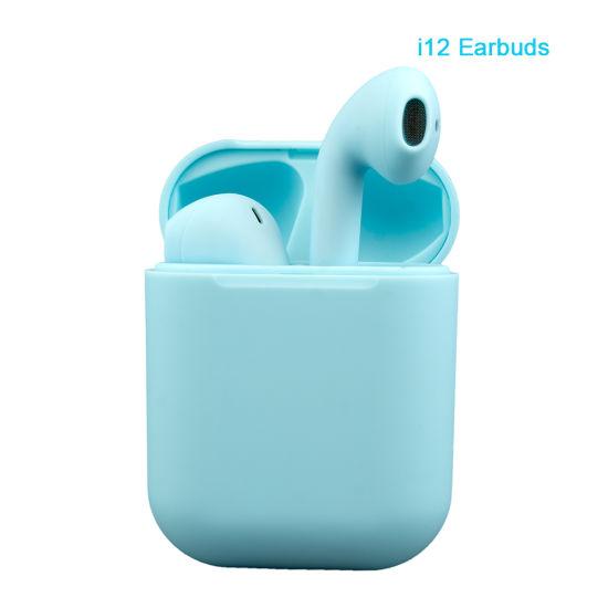 I12 Macaroon Tws 5.0 Wireless Headphone Bluetooth in-Ear Mini Earphone for Smart Phone Earbuds