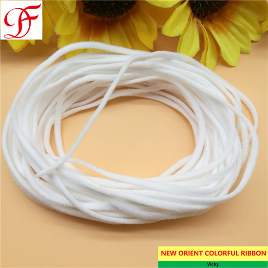 Factory Customized High Quality 3mm~4mm Flat Medical Surgical Disposable Elastic Mask Rope Earloop, Mask Rope, Elastic Cord, Spandex Material for Masks N95