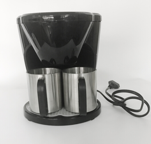Low Price Drip Coffee Maker Electric Coffee Maker with Two Matching Cups pictures & photos