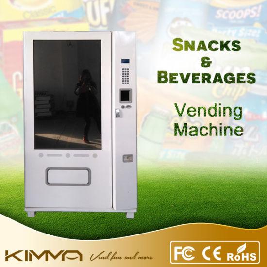 Cashless Full Touch Screen Soda Vending Machine in China