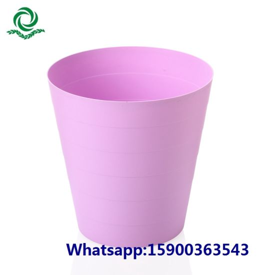 Kitchen Round Household Open Top Plastic Garbage Bin pictures & photos