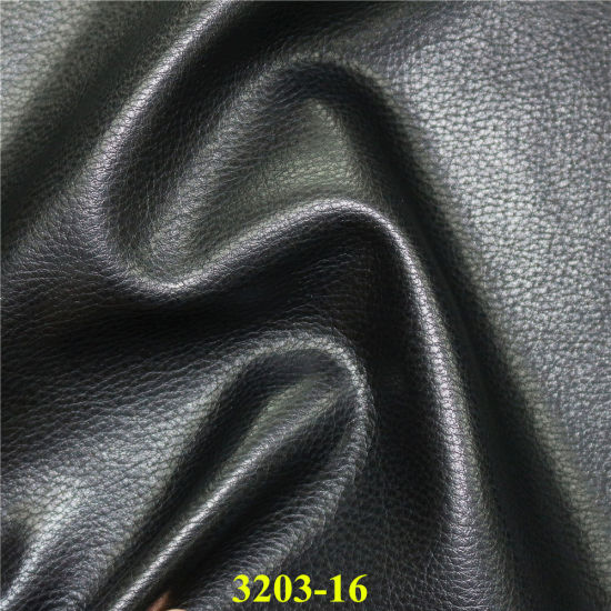 China 3203-Simple Classical Design Artificial PU Foxing Leather for