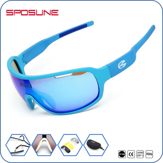 f72d1c2506c China Brown Lens Two Pieces Unbreakable Sport Sunglasses for ...