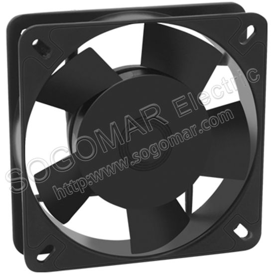 Square 135X135X32mm 220VAC Box Fan with Sleeve Bearing