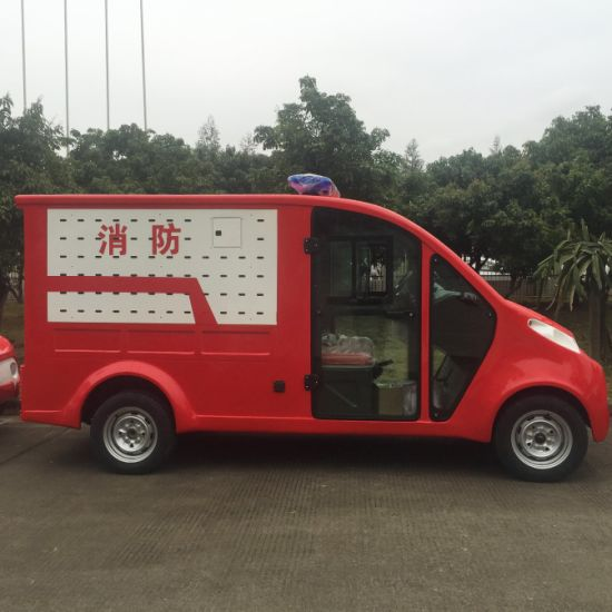 Battery Powered 2 Seats Electric Fire Fighting Truck pictures & photos