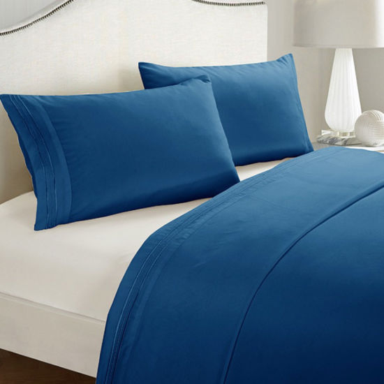Wholesale Hotel Collection Solid Color Microfiber Home Textile Embroidery Bedding Set
