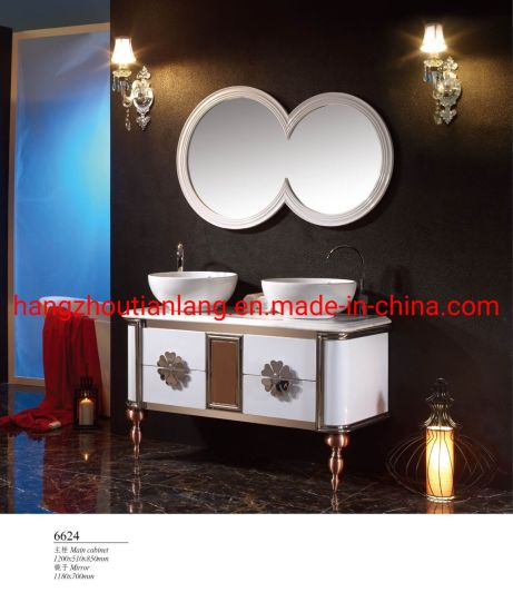 120cm Double Basin Big Size Stainless Steel Modern Bathroom Vanity
