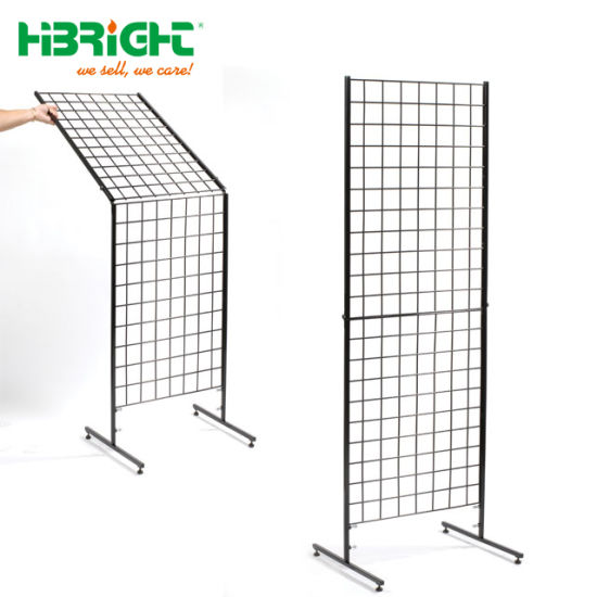 China Metal Frame Wire Mesh Grids Display Panel Stand - China Wire ...