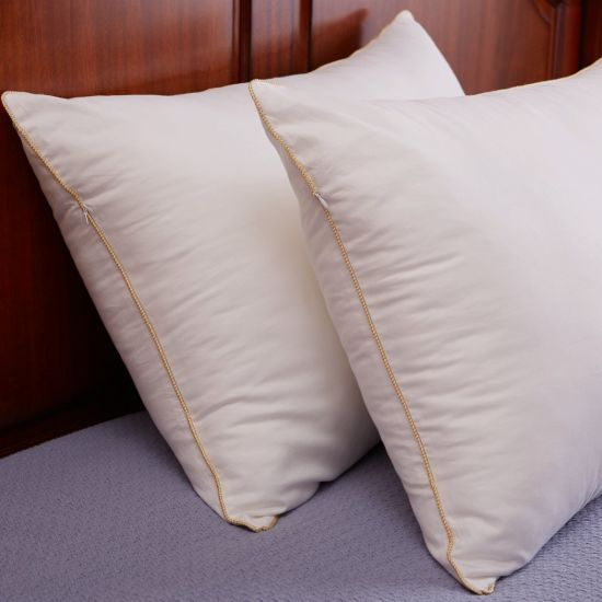 100% Cotton Cover White Duck Down Pillow for Hotel pictures & photos