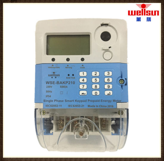 Single Phase Sts Keypad Prepaid Energy Meter