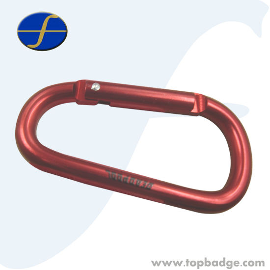 Wholesale Mini Safety Customize Shape Red Carabiner Hook for Purse