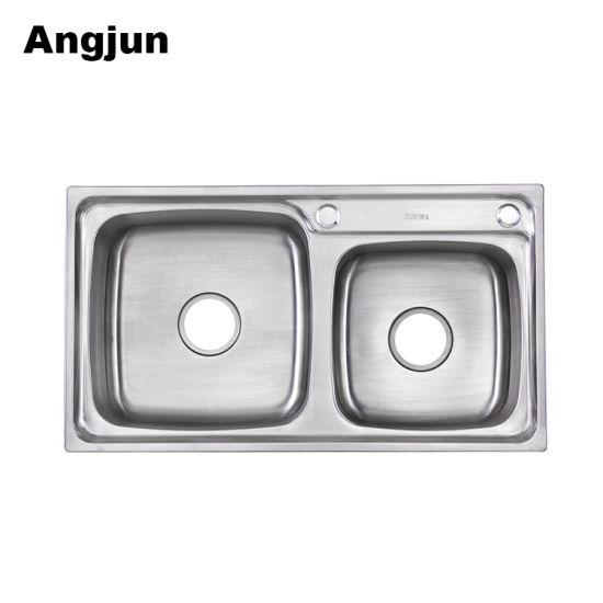 Double Bowl High Technology Stainless Steel Restaurant Kitchen Sink