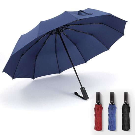 Automatic Fold Umbrella Larger fashion Windproof 12K Personalized Customized