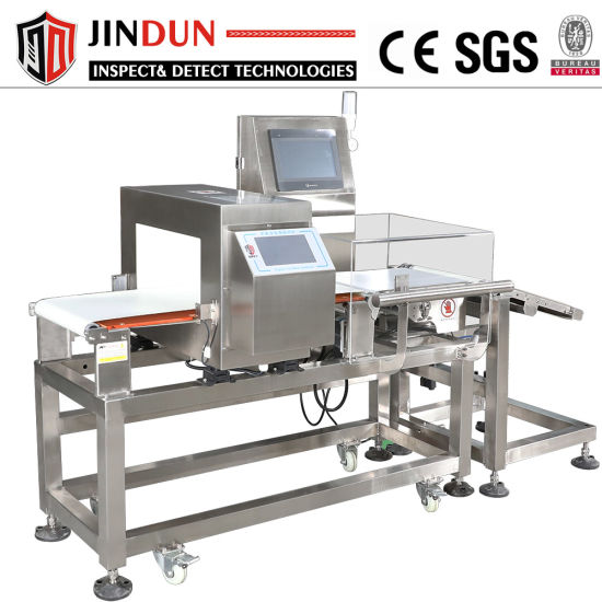 Food Meat Fish Seafood Production Line Conveyor Metal Detector and Weighing Machine