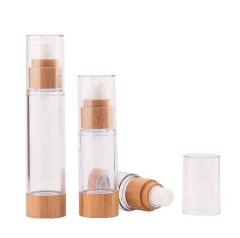 Bamboo Plastic Sub Packaging Fine Pump Bottle pictures & photos