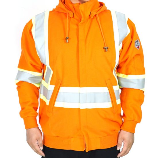 100% Cotton Reflective Safety Coverall Grey Workwear