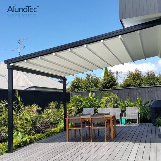 Motorized Outdoor Retractable Awning Garden Patio Roof Skylight Awning Canopy
