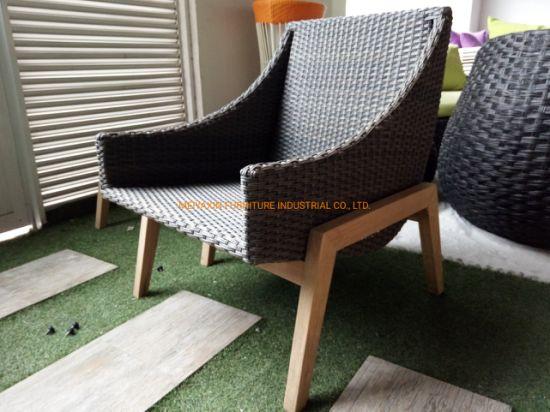 Factory Supply Classic Handcraft Rattan Weaving Single Chair Sofa Furniture