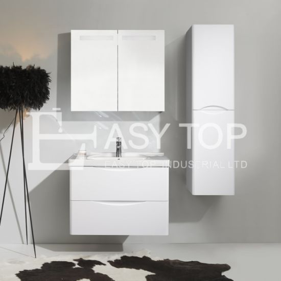 in Stock Australia Cabinets Drawing Traditional Grey Walnut Wall Hung One Sink Bathroom Sink Cabinet