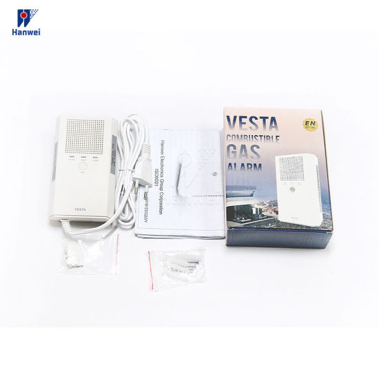New Product Standalone 220VAC Voltage Working Natural Gas Leak Detector for Home Security Protection