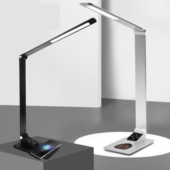 Fast Wireless Charger Table Lamp Foldable Dimming Desk Light LED Eye Protection Reading Light Student Working Desk Lamp