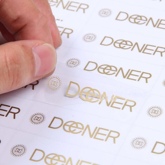 Custom Die Cut Stickers Vinyl, Clear Sticker, Waterproof Transparent Self  Adhesive Label Stickers Printing