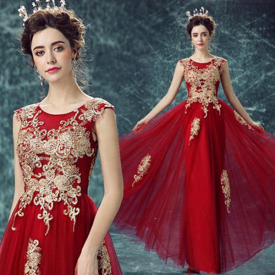 New Design Plus Size Evening Wine Red Dress Guangzhou 29901
