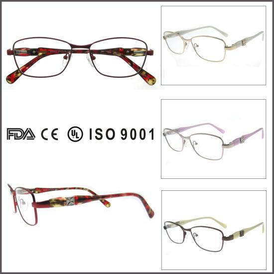 China Metal Red Eyewear Frame Women Eyeglass Frame - China Glasses ...