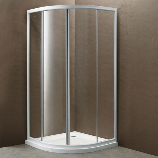 Corner Framed Shower Cubicle with Two Sliding Door Panels (K-304) pictures & photos