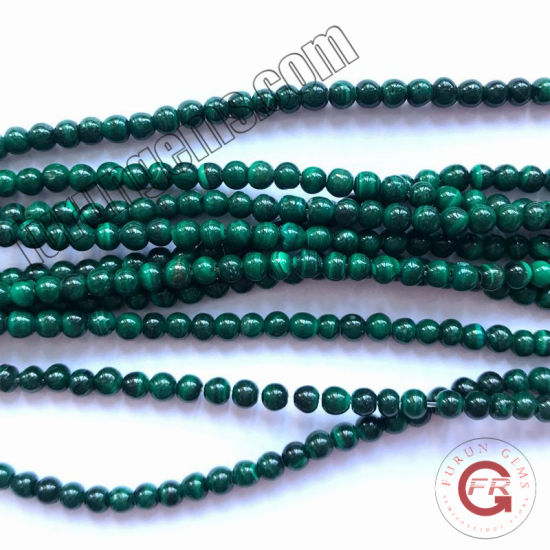 Loose Strand Gemstone Green Malachite Small Size 2mm3mm Mini Beads for Jewelry Making