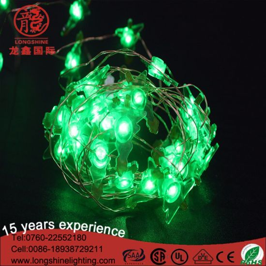 Mini Led Christmas Tree Shell Copper String Lights With Battery Power Box